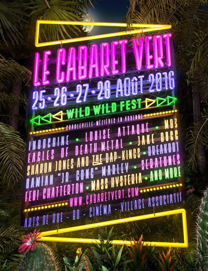 L'affiche du festival Le Cabaret vert, àCharleville-Mézières