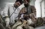 Au service des urgences de l'hôpital de Lashkar Gah, en Afghanistan, géré par Médecins sans frontières. Cet hôpital est le seul de la province d'Helmand, largement contrôlée par les talibans.
