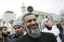 Anjem Choudary à la mosquée centrale de Londres pour la campagne « Restez musulmans, ne votez pas », en avril 2015.