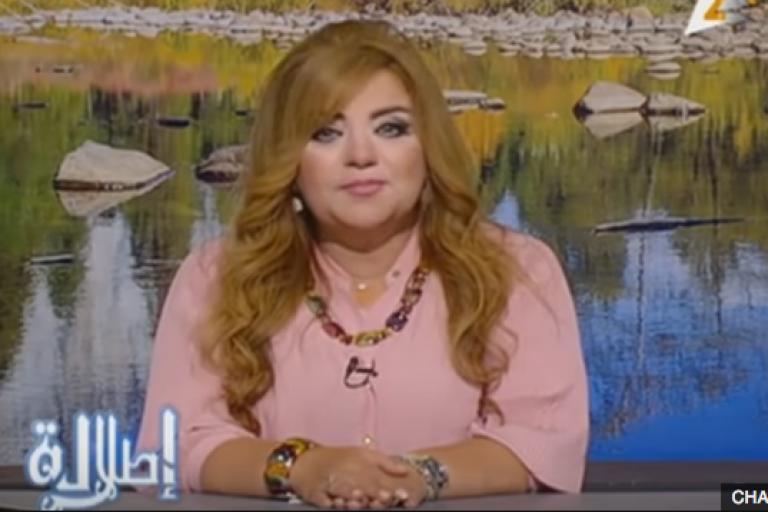 Khadija Khattab, journaliste de la télévision d'Etat égyptienne (ERTU).