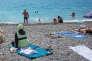 Sur une plage de Nice, le 17 juillet.