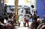 Des migrants sont secourus par l'ONGMigrant Offshore Aid Station, au large des côtes libyennes, le 18 août.