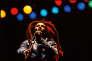 Bob Marley sur la scène du Bourget, le 3juillet 1980.