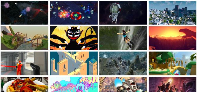Exemples de jeux développés sous Unity, sur le site du kit de développement.