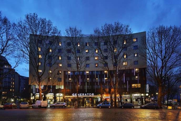 L'auberge de jeunesse Generator, dans le 10e arrondissement de Paris, en janvier 2015.