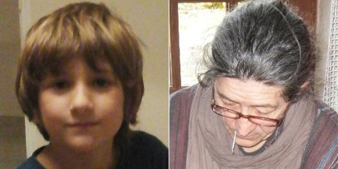 Deux photographies délivrées par la gendarmerie nationale le 19 août 2016 montrent le portrait de Nathael 9 ans, enlevé par son père à Romenay.