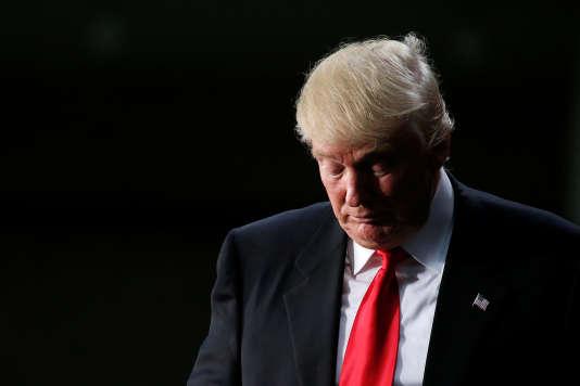 Le candidat républicain, Donald Trump, lors de son allocution à Charlotte, en Caroline du Nord, jeudi 18 août.