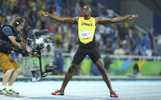 Usain Bolt a remporté le 200 m jeudi lors des JO de Rio.