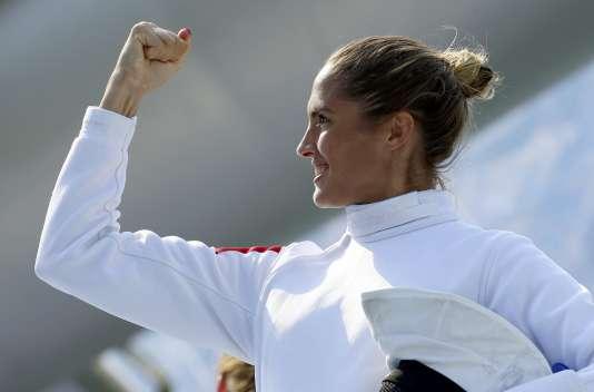 Elodie Clouvel, médaillée d'argent du pentathlon moderne, le 19 août à Rio.