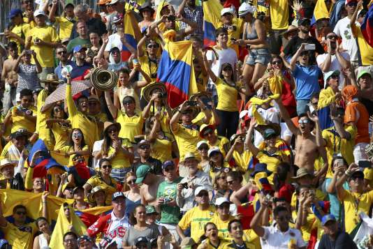 Les supporteurs colombiens étaient en nombre pour saluer la victoire attendue de Mariana Pajon.