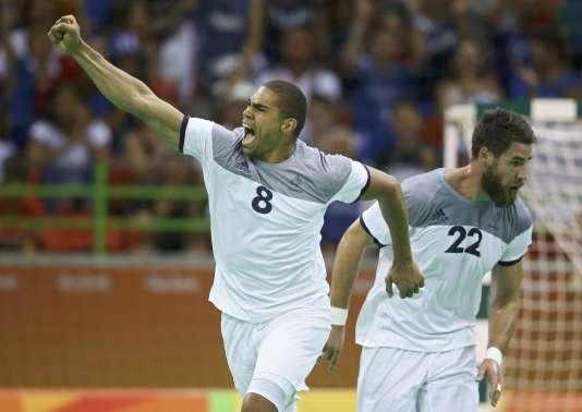 Daniel Narcisse et Luka Karabatic, le 19 août, à Rio.