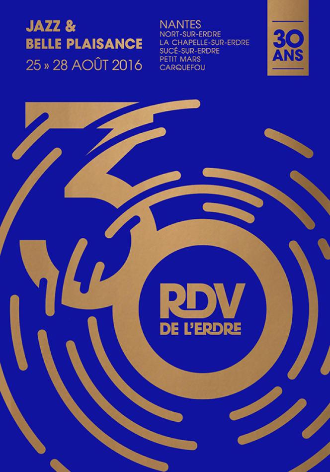 L'affiche du festival des Rendez-vous de l'Erdre, à Nantes et ses environs.