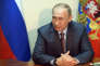 Le président Vladimir Poutine lors de son entrevue avec le premier ministre de Crimée, Sergueï Aksionov (hors champ), le 19 août, à Sébastopol.