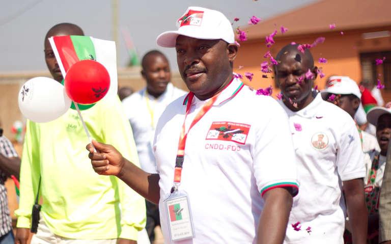 Le président, Pierre Nkurunziza, le 20 août dans la province de Gitega au Burundi.