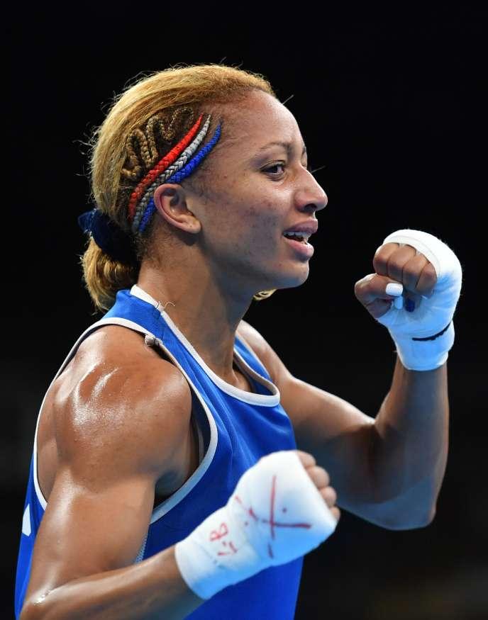 Estelle Mossely, le 19 août, à Rio.