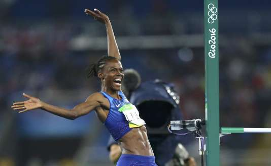 Chaunte Lowe aux Jeux olympiques de Rio, dont elle a pris la quatrième place.