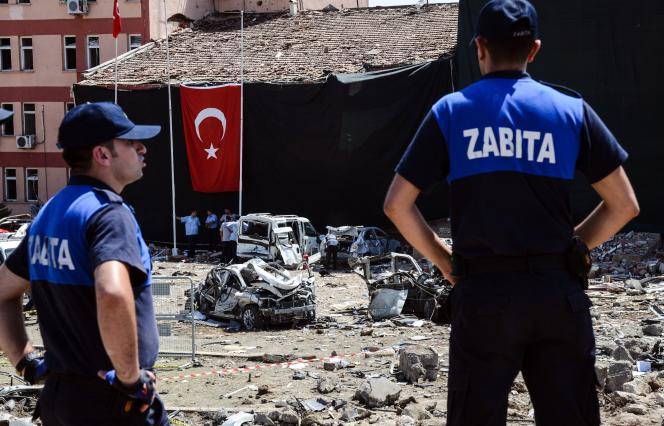 Après une attaque à la voiture piégéeà Elazig le 18 août 2016.
