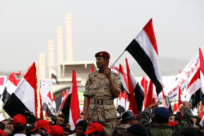 Un rassemblement en faveur du parlement dominé par les Houthis à Saana (Yémen), le 20 août 2016.