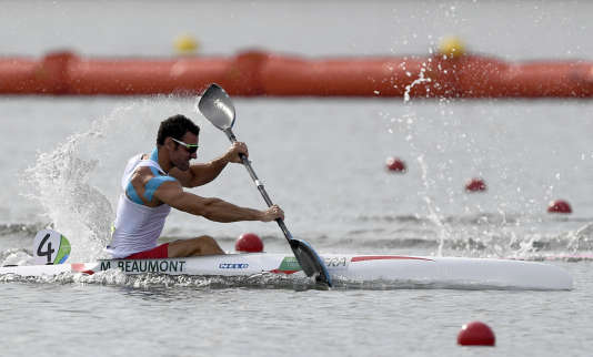Maxime Beaumonta décroché samedi à Rio la médaille d'argent de sprint en kayak monoplace (K1) sur 200m.