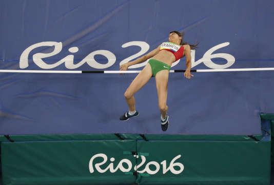 La Bulgare Mirela Demireva le 20 août 2016, elle fait partie des sept athlètes (toutes féminines) de son pays à avoir rapporté une médaille des Jeux de Rio.