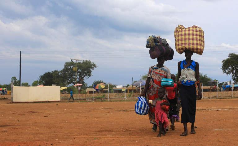 Une famille sud-soudanaise a fui les violences, le 20 août 2016.