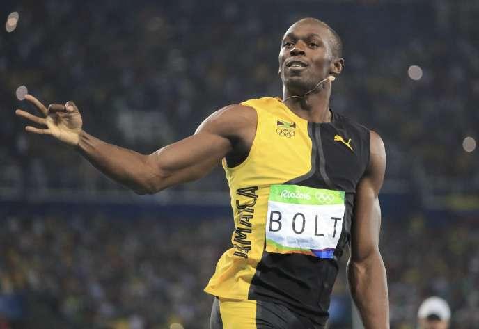 Usain Bolt aux JO de Rio.