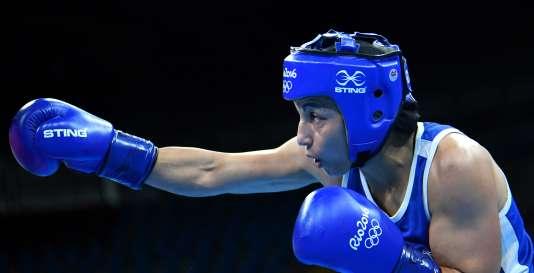 Sarah Ourahmoune, médaillée d'argent.