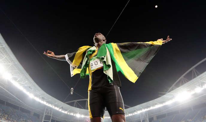 Usain Bolt, après la finale du 4 × 100 m, le 19 août, à Rio.