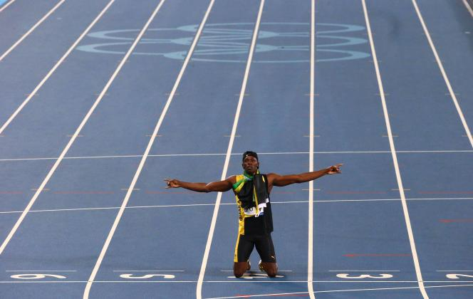 Usain Bolt, seul en piste