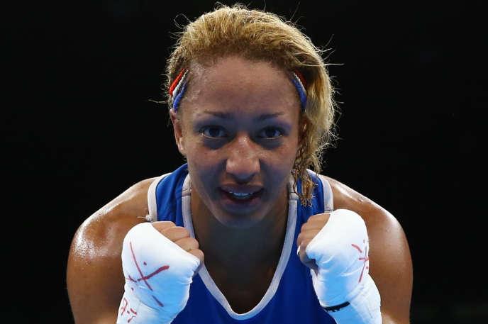 Estelle Mossely après son titre olympique à Rio, au Brésil le 19 août 2016.