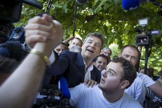 Arnaud Montebourg à Frangy-en-Bresse, dimanche 21 aout.