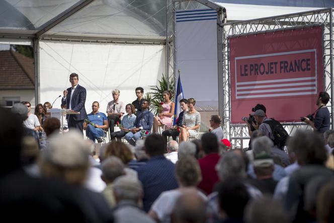 Arnaud Montebourg, à Frangy-en-Bresse (Saône-et-Loire), le 21 août.