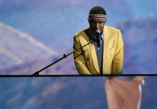 Frank Ocean aux Grammy Awards, à Los Angeles en 2013. Le 17e album de l'artiste est sorti directement en ligne sur Apple Music en août dernier.