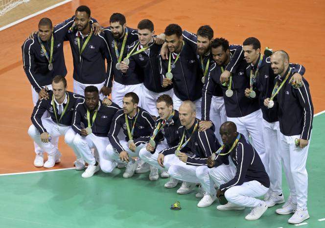 L'équipe de france de handball à Rio en août 2016
