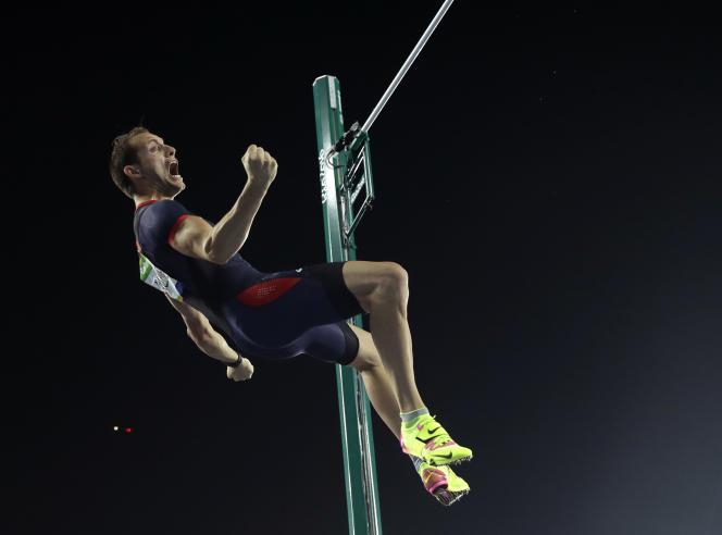 Renaud Lavillenie lors des JO de Rio, en 2016. (AP Photo/Matt Slocum)