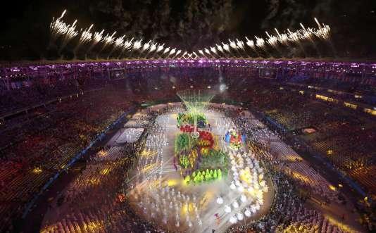 Cérémonie de clôture des Jeux olympiques 2016, le 21août au stade Maracana de Rio de Janeiro.