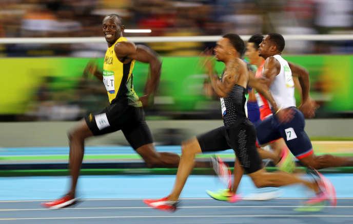 Usain Bolt et son sourire à Andre De Grasse, le 14 août 2016.
