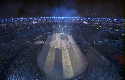Le stade Maracana, au Brésil, lors de la cérémonie de clôture des Jeux olympiques, en août 2016.