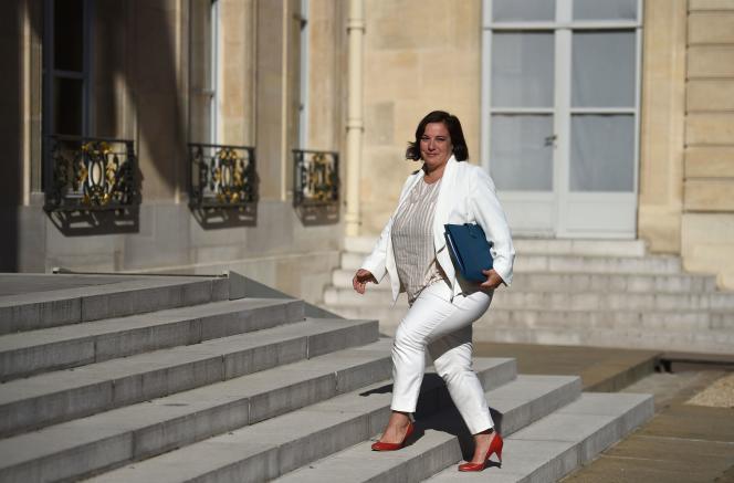 Emmanuelle Cosse, à l'Elysée, le 22 août.