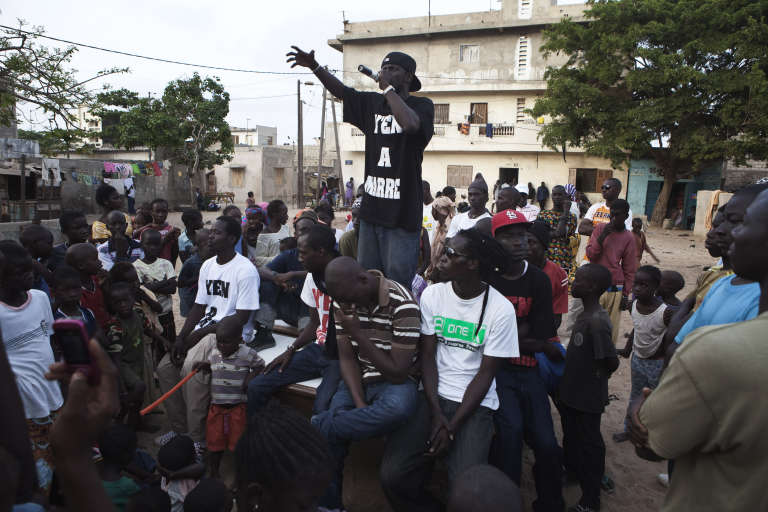Le mouvement citoyen sénégalais Y'en a marre à Dakar, en 2011.