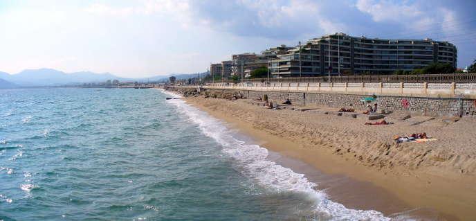 Plage de la Bocca, à Cannes.