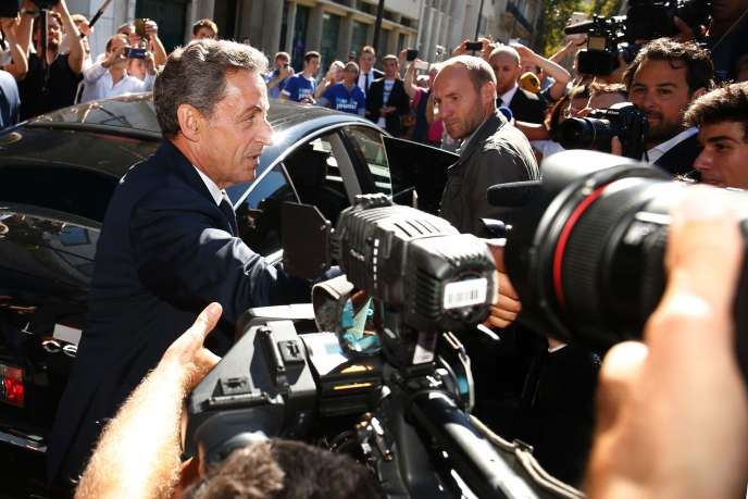 Nicolas Sarkozy face aux journalistes, mardi 23 août.