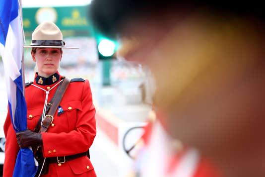 Un membre de la Gendarmerie royale du Canada, le 8 juin 2014 à Montréal.