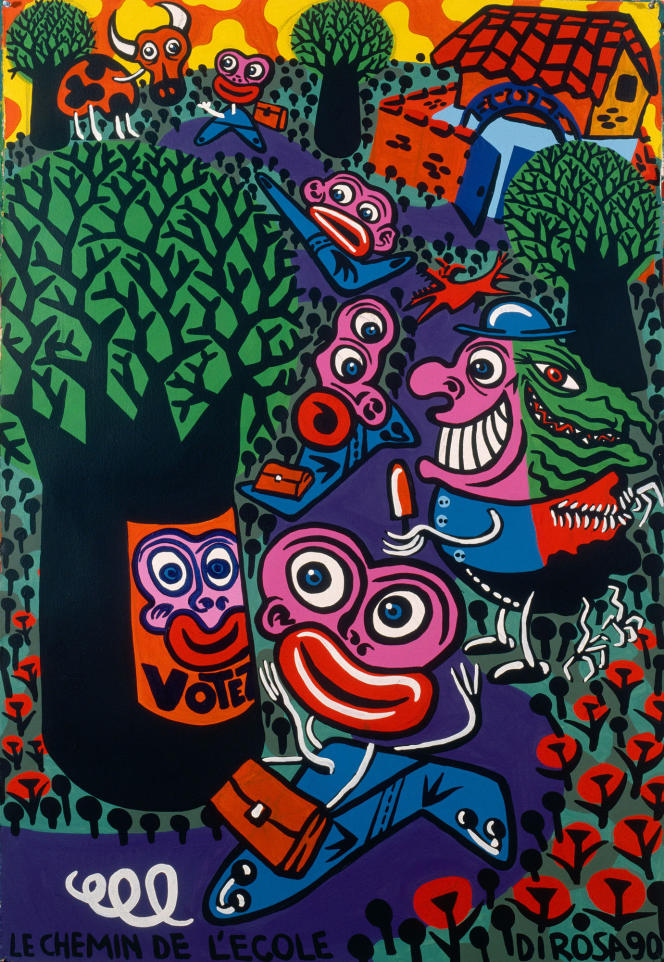 « Le Chemin de l'école » (1990), d'Hervé Di Rosa.