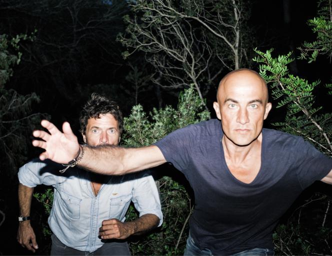 Le duo Cassius en juillet à Ibiza : Philippe Cerboneschi et Hubert Blanc-Francard, alias «Zdar» et « Boom Bass ».