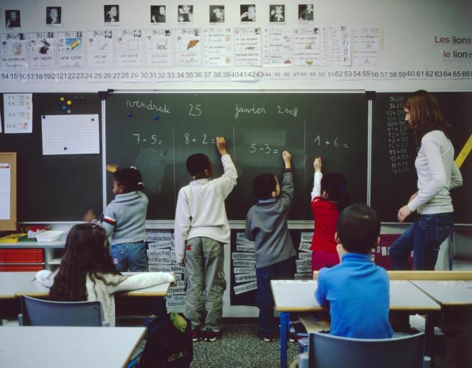 A l'école Anatole-France de Vitry-sur-Seine, en janvier 2008.
