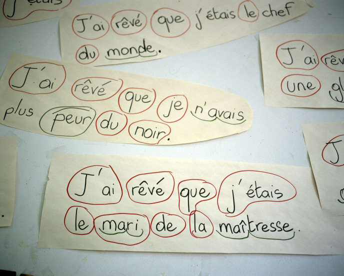 A l'école La Pie, àSaint-Maur-des-Fossés (Val-de-Marne), enjanvier 2008.
