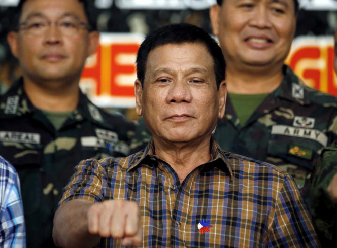 Rodrigo Duterte, à Tanay (Philippines), le 24 août.