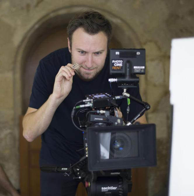 Le réalisateur américain David Gelb, sur le tournage de «Chef's Table».