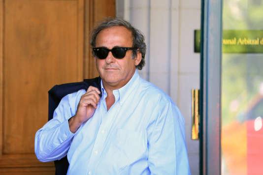 Michel Platini, le 25 août, au Tribunal arbitral du sport de Lausanne.